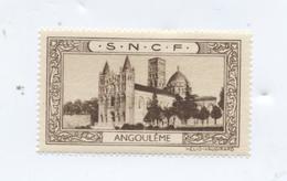 Vignette SNCF / ANGOULEME (Charente) / RARE - Werbung