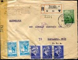 45179 Turkey,  Cover Circuled 1945  To  U.s.a. , Registered, Censured - 1921-... Republic