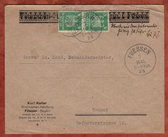 Brief, Adler, Fuessen Nach Weimar, Postbetrug?, 1925 (74405) - Deutschland