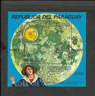 PARAGUAY COPERNIC SPACE KOSMOS MICHEL BL. 203  MINT - Paraguay