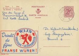 PUBLIBEL 1733° : ( WIJN VAN FRANKRIJK ) : DRANK,BOISSON,DRINK,WIJN,VIN,WINE, - Stamped Stationery
