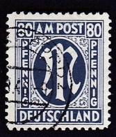 Deutschland Bizone - German Print 1945, 80 Pfennig AM POST / Stempel 1946, FALZ - Zona Anglo-Americana