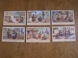 LIEBIG Artisans D'Art Au Congo Tissage Sculpture Poterie Céramique Série De 6 Chromos Trading Cards Chromo - Liebig