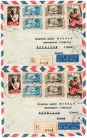 Lot De 8 Env .Cachets Divers(Premiers Vols) -Bonne Cote Des Timbres(PA 30-3F France Libre-Etc...voir Scans - Tahiti
