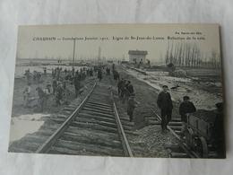 CPA 39 CHAUSSIN Jura - Inondations Janvier 1910 - Ligne (chemin De Fer) De St-Jean-de-Losne + Ferroviaire Train - France