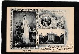 "Netherlands-King And Queen ""Vredes Conferentie At Gravenhage 1899 - Antique Postcard - Paesi Bassi"