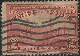 USA 1909 HudsonFulton Celebration - 2c Clermont And Half Moon On Hudson River FU - United States