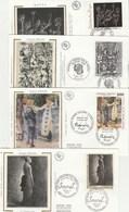 France Lot 31 Enveloppes Différentes FDC Sur Soie 1991 - 8 Scan - 1990-1999