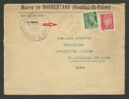 1er Jour Du Tarif ! ! ! / Pétain & Mercure / Enveloppe Mairie BARBENTANE 05.01.1942 - Postmark Collection (Covers)