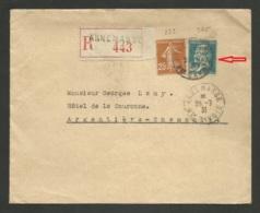 Affr. Semeuse & Pasteur Congrès BIT / Recommandé / ANNEMASSE 28.07.1931 >>> ARGENTIERE - CHAMONIX - Postmark Collection (Covers)
