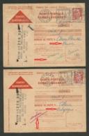 """"""" Mention Inadmis """" Cause Destination >>> BELGIQUE & MAROC / Lot Carte Postale Remboursement / Retour BEAUNE 1952 - Postmark Collection (Covers)"""