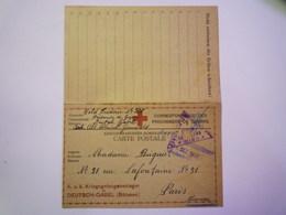 GP 2019  - 1322  DEUTSCH-GABEL (Böhmen)  1917  :  Kriegsgefangenen-Korrespondenz   XXX - Guerre 1914-18