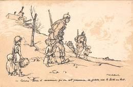 Guerre 1914-18 - Illustration Illustrateur Poulbot - Enfants Prisonnier De Guerre - 1917 - Oorlog 1914-18