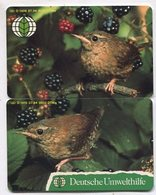 TK 07661 GERMANY - Chip O1409+O1410 07.94 Two Cards Bird Puzzle 9 000 Ex. - Puzzles