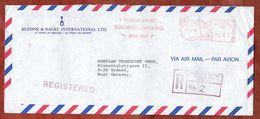 Luftpost, Einschreiben Reco, Kuehne & Nagel, Absenderfreistempel, Toronto Nach Bremen 1980 (74414) - 1952-.... Règne D'Elizabeth II