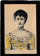 Norway-H.M.Queen Dronning Maud,Taber Bas Relief Co. 1910s - Antique Heavy Glitter Postcard - Norvegia