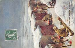 Illustration Militaria - En Guerre : Troupe Indienne Dans Les Tranchées - Inde Indian India - 1915 - Caserme