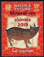 Wallis & Futuna - 2019 - Year Of The Pig - Mint Stamp - Wallis And Futuna