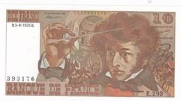 BILLET  10 FRANCS BERLIOZ Du 5-8-1976 * E293 393176 * 1 épinglage, Plis Verticaux (B) - 1962-1997 ''Francs''