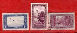 (Us3) ALGERIA - ALGERIE °- 1936-37 - Paysages  Yvert. N° 101-102-108. Oblitéré .  Vedi Descrizione - Algeria (1924-1962)