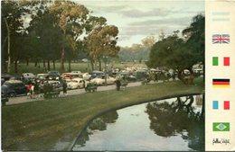 BUENOS AIRES - PASEO PARQUE PALERMO, ARGENTINA POSTAL CPA CIRCA 1960's NON CIRCULEE- LILHU - Argentina