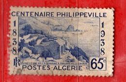 (Us3) ALGERIA - ALGERIE °- 1938 - Centenaire De Philippeville  Yvert. N° 143. Oblitéré .  Vedi Descrizione - Algeria (1924-1962)