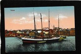 Norway-Vadso, Finnmark Fylke, Sailing Schooner 1910s - Antique Postcard - Norway