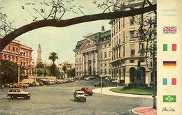 BUENOS AIRES - AVENIDA L. N. ALEM Y RIVADAVIA (PLAZA DE MAYO), ARGENTINA POSTAL CPA CIRCA 1960's NON CIRCULEE- LILHU - Argentina