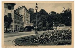 GENOVA - PIAZZA CORVETTO E GALLERIA REGINA ELENA - TRAM - Vedi Retro - Formato Piccolo - Genova