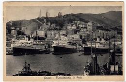 NAVI - BARCHE - GENOVA - TRANSATLANTICI IN PORTO - 1940 - Vedi Retro - Formato Piccolo - Commercio