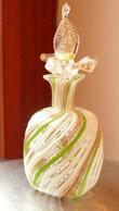 VINTAGE Cca 1950 - MURANO - Flacon à Parfum, Inclusion Et Filigrane Mint Condition - Verre & Cristal