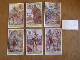 LIEBIG Peuplades Du Congo Belge 7 à 12 Afrique Série De 6 Chromos Trading Cards Chromo - Liebig