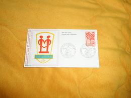 ENVELOPPE FDC XXe ANNIVERSAIRE DE L'ASSOCIATION DES DONNEURS DE SANG BENEVOLES DES P.T.T.CACHETS 974 SAINT DENIS..+ TIMB - Covers & Documents
