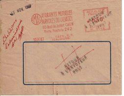 1967 - Oblitération HAVAS Type M Des Assurances Mutuelles Agricoles Du Calvados - Retour à L'envoyeur - Marcophilie (Lettres)