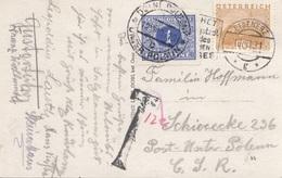 V1 - CESKOSLOVENSKO NACHPORTO 1931 - 1 K Nachporto + 10 Gro + T-Stempel Auf Ak LEOPOLDSTEINERSEE, Gel.v. Eisenerz > Post - Briefe U. Dokumente