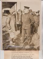 RUTH LAW DATING AVIATRIX ARRIVES NEW YORK GOVERNOR'S ISLAND LEONARDO WOOD BINGHAM  25*20CM Fonds Victor FORBIN 1864-1947 - Aviación