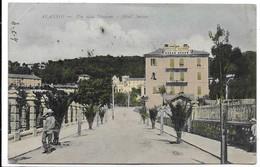 Alassio (Savona). Via Alla Stazione E Hotel Suisse. - Savona
