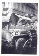 """LIBERATION 1945 """"ORFEVRERIE WISKERMANN""""   BRUXELLES   JEEP ET MILITAIRES - War, Military"""