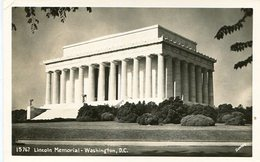 LINCOLN MEMORIAL - WASHINGTON, D.C.. U.S.A. POST CARD CPA CIRCA 1950's NOT CIRCULATED - LILHU - Catskills
