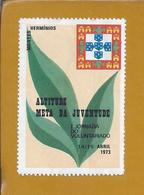 Vinheta Da Mocidade Portuguesa. Montes Hermínios, Serra Da Estrela. Jornada Do Voluntariado 1973. Estado Novo. Raro. - Emissions Locales