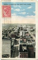 LOOKING UP SECON AVE. FROM SMITH TOWER, SEATTLE. U.S.A. POST CARD CPA CIRCULATED CIRCA 1930's - LILHU - Seattle