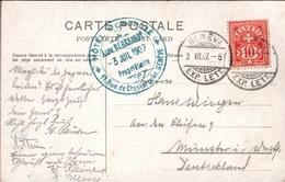 ! Cachet Hotel Monopole, Geneve, Genf, 1907, Lac Leman, Schweiz, Suisse - Briefe U. Dokumente