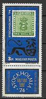 UNGHERIA  1974 STOCKOLMIA 74 YVERT. 2391 USATO CON VIGNETTA VF - Gebraucht