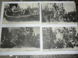 Oostende:ostende Grand Cortège Déguisé Des 7 Et 8 Juin 1908 (4 Kaarten) - Oostende
