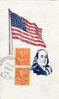 BENJAMIN FRANKLIN. U.S.A. POST CARD CPA CIRCULATED 1946 BOSTON - LILHU - Presidentes