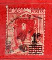 (Us3) ALGERIA - ALGERIE °- 1939-40 - 1f. Sur 90c.  Yvert. N° 158A. Oblitéré .  Vedi Descrizione - Algeria (1924-1962)