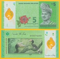 Malaysia 5 Ringgit P-52b 2011 UNC Polymer Banknote - Malesia