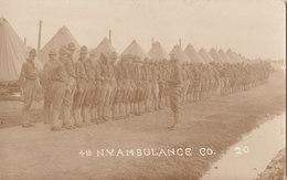 RPPC REAL PHOTO POSTCARD 4TH NEW YORK AMBULANCE CO. - Regiments