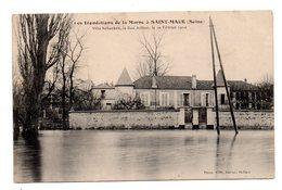 Saint Maur. Inondations De La Marne. Villa Schacken, La Rue Arthur. - Saint Maur Des Fosses