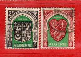 (Us3) ALGERIA - ALGERIE °- 1947 - Armoiries De  Villes  Yvert. N° 259-261. Oblitéré .  Vedi Descrizione - Algeria (1924-1962)